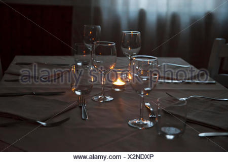 Table of restaurant - Stock Photo