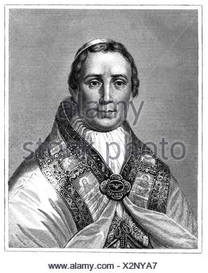 Pius IX (Giovanni Maria Mastai-Ferretti), 13.5.1792 - 7.2.1878, Pope 16.6.1846 - 7.2.1878, portrait, steel engraving, 19th century, Artist's Copyright has not to be cleared - Stock Photo