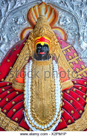 Goddess Mahalakxmi, Kolhapur, India - Stock Photo