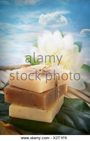 Spa natural soaps - Stock Photo