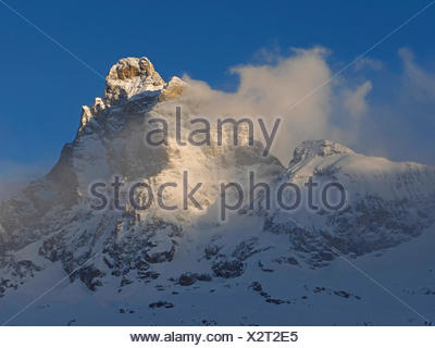 Monte Cervino (Matterhorn) view from Cervinia , Italy, Cervinia - Stock Photo