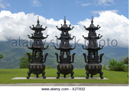 Asia, Taiwan, temple, Dong Fu Zan, East River Valley, religion - Stock Photo