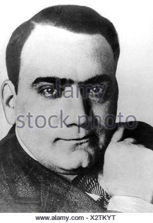 Caruso, Enrico, 25.2.1873 - 2.8.1921, Italian opera singer (tenor), portrait, , Additional-Rights-Clearances-NA - Stock Photo