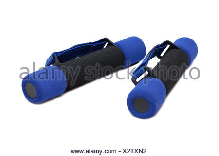 Dumbbells in soft shell - Stock Photo