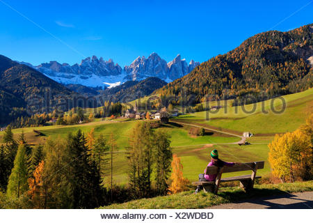 Odle in autumn, Dolomiti, alto adige, italy - Stock Photo