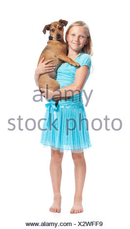 blonde, young, younger, blond, girl, girls, woman, blue, humans, human beings, - Stock Photo
