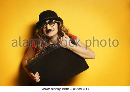Lady dressed goofy