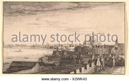 London from Arundel House. Series/Portfolio: Prospectus aliquot locorum in diversis Provincis.; Artist: Wenceslaus Hollar (Bohemian, Prague 1607-1677 - Stock Photo
