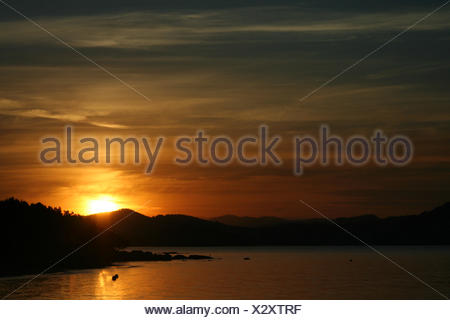 when the sun goes down ... - Stock Photo