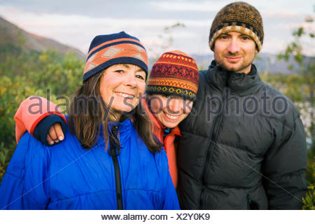 Camping,Tundra,Camper,Friendship,Happiness,Hug - Stock Photo