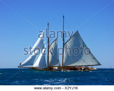 waves sail classical - Stock Photo