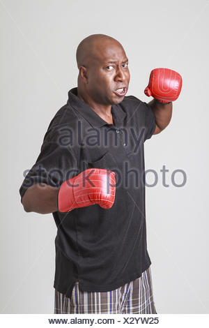 Throwing a punch - Stock Photo