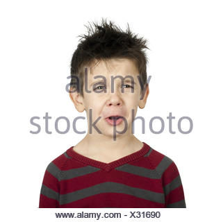 Whiny little boy - Stock Photo