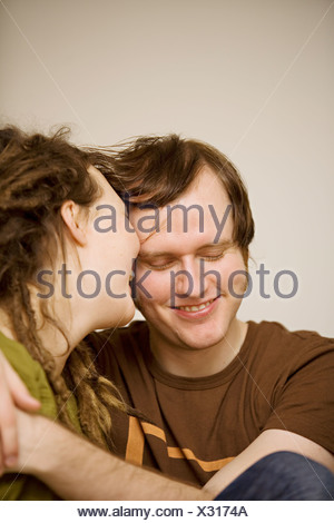 Couple embracing, Stockholm, Sweden. - Stock Photo