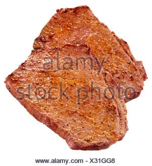 BBQ SEASONED RUMP STEAK - Stock Photo