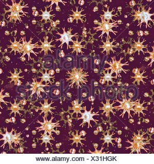 Flowers and Balls Pattern - Stock Photo