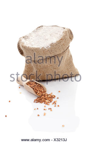 Flour and buckwheat. - Stock Photo