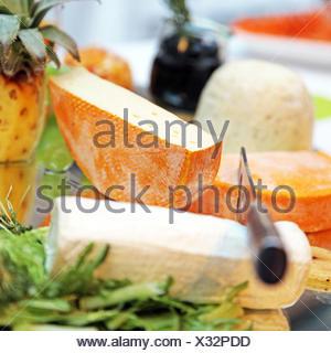 -verschiedene Käse - Nahaufnahme - Stock Photo