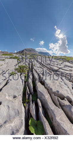Karst, erosion, Col du Sanetsch, landscape, summer, mountains, hills, Conthey, Wallis, Valais, Switzerland, Europe, - Stock Photo