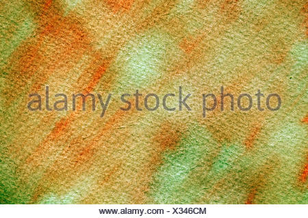 Mixed colors on textured watercolor paper - Stock Photo