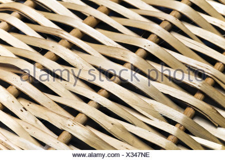 fragment of a wattled basket, close up - Stock Photo