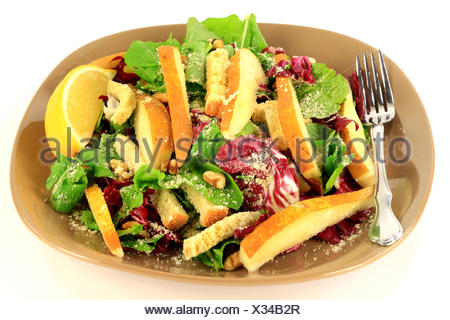 Arugula and Radicchio gourmet salad. - Stock Photo