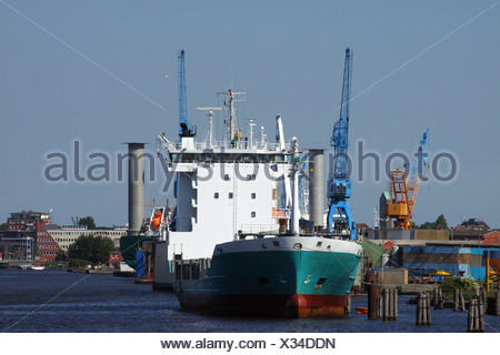 Container ship in port - Stock Photo
