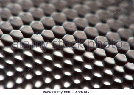 blue-green darner, southern aeshna, southern hawker (Aeshna cyanea), detail of compound eye of a dragonfly, Germany - Stock Photo