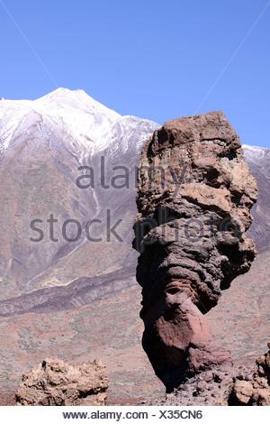 Teide National Park wit Los Roques - Stock Photo