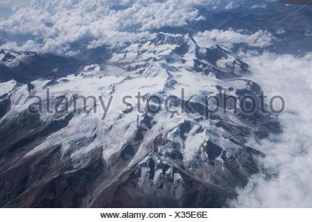 Cordillera Real near La Paz with Ancohuma 6520 ms, - Stock Photo