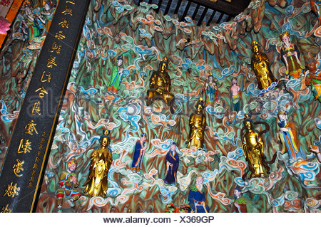 Figurines, gods' heaven, Longhua temple, Shanghai, China - Stock Photo