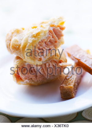 Ham in batter - Stock Photo