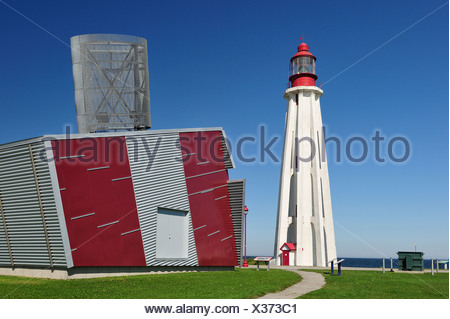 Lighthouse, Pointe au Pere, Rimouski, Canada, - Stock Photo
