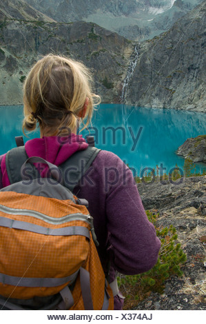 Hiking in the Coast Mountains, BC - Stock Photo