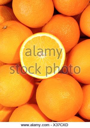Orange fruits / (Citrus aurantium sinensis) - Stock Photo