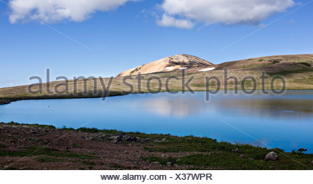 volcanic landscape in the rainbow mountains of tweedsmuir