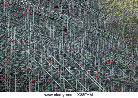 scaffold scaffolding metal - Stock Photo