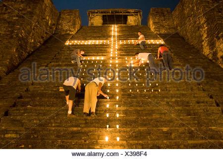 Aztec pyramid, Castillo Teayo, Veracruz, Mexico - Stock Photo