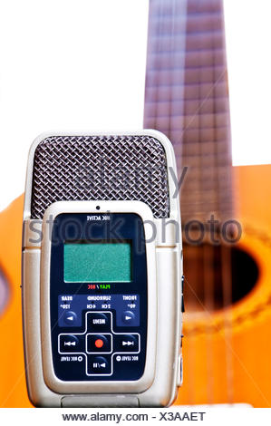 digital, absorb, recorder, record, modern, modernity, new, small, tiny, little, - Stock Photo