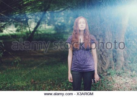 Portrait Of Young Woman - Stock Photo