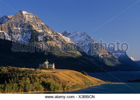 Sunrise, Prince of Wales Hotel, Waterton-Glacier International Peace Park, Alberta, Canada.