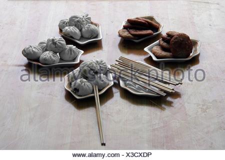 Chinese breakfeast - Stock Photo