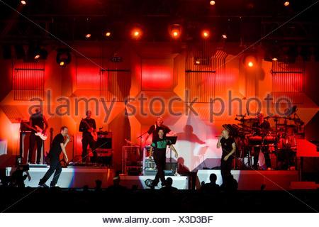 Die Fantastischen Vier, German rap band live at the Heitere Open Air in Zofingen, Switzerland - Stock Photo