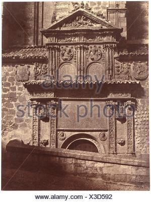 Portal of the Convent of Sancti Spiritu, Salamanca. Artist: Charles Clifford (Welsh, 1819-1863); Date: 1853; Medium: Albumen silver print from paper - Stock Photo