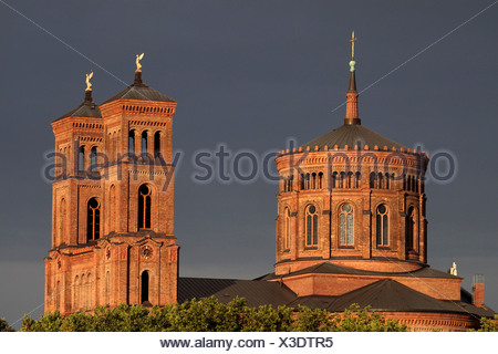 St.Thomas church, Mariannenplace, Berlin, Germany - Stock Photo