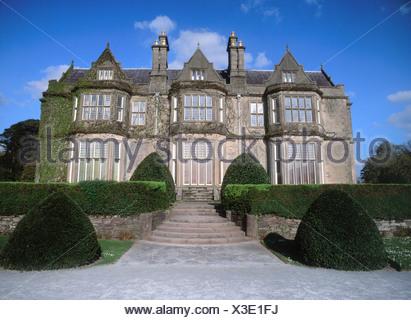Facade of mansion, Killarney, County Kerry, Munster, Republic Of Ireland - Stock Photo
