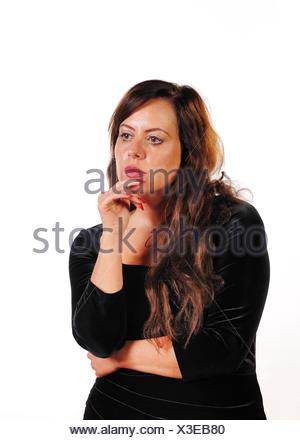 Frau denkt nach - Stock Photo