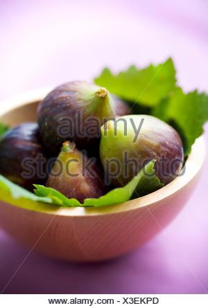 fruit bowl,fig - Stock Photo