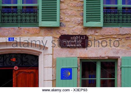 France.Midi Pyrénnées- Gers- 'Gite d´etape' place where the pilgrims overnights on the Pilgrimage way to Santiago de - Stock Photo