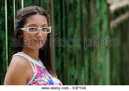 Bulgaria, Portrait of teenage girl (14-15) - Stock Photo